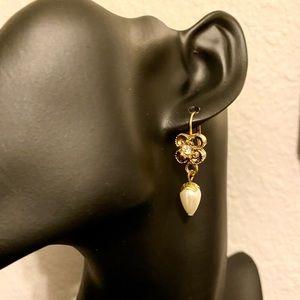 Earrings, faux pearl